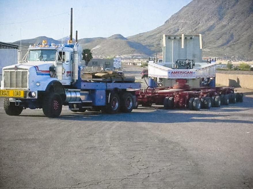 Alpha 1 hauling 400,000 lbs transformer