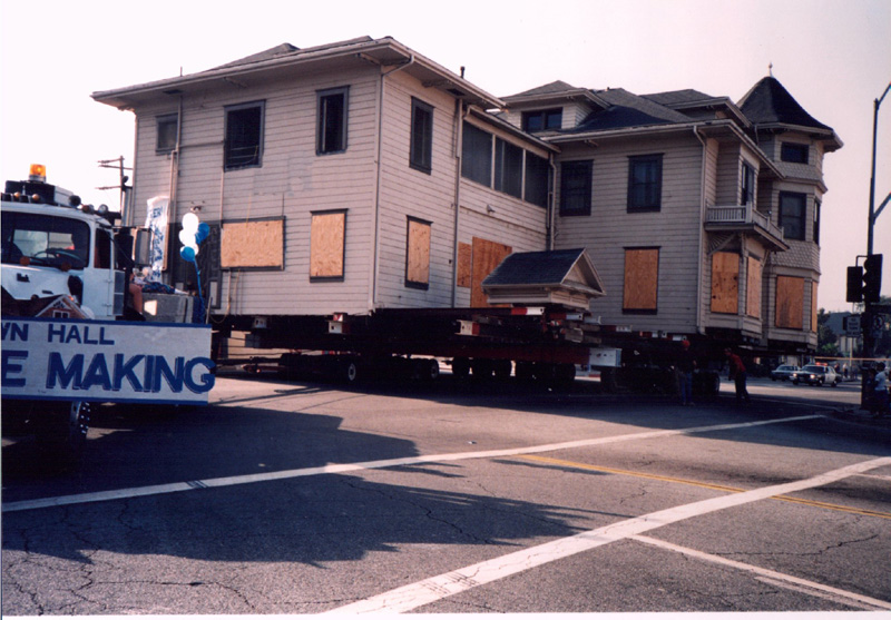 50 ft. wide one section historical house moved in Pasadena, CA